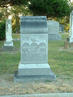 "Martha Ann J. ""Marthy"" <I>Coats (Caldwell)</I> Paschall"