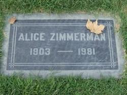 Alice Helen <I>Carty</I> Zimmerman