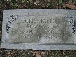 Doris <I>Taylor</I> Rowland