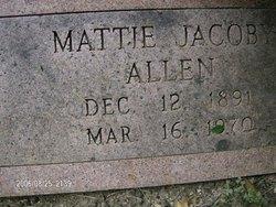 Mattie <I>Jacoby</I> Allen