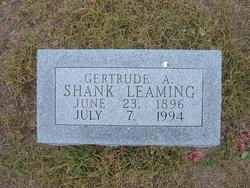 Gertrude A. <I>Shank</I> Leaming