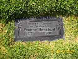 Yvonne <I>Sanspoux</I> Hansford