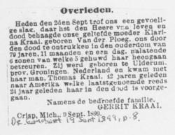 Klaaszina <I>van der Ploeg</I> Kraai