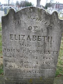 Elizabeth <I>Culler</I> Coblentz