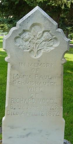 Pauline Maria <I>Schmidhauser</I> Vogel