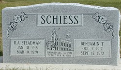 Ila June <I>Steadman</I> Schiess