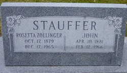 Rosetta <I>Zollinger</I> Stauffer