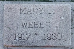 Mary <I>Tibbitts</I> Weber