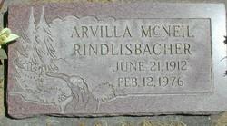 Arvilla <I>McNeil</I> Rindlisbacher