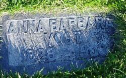Anna Barbara <I>Schenk</I> Yost