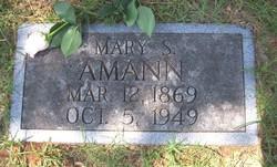 Mary Sue <I>Regensberg</I> Amann