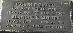 Blanche Elizabeth <I>Kuchey</I> Cutter