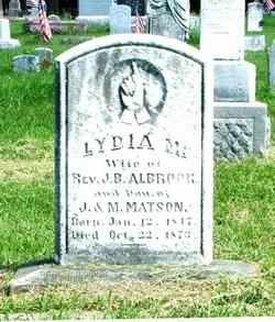 Lydia Ann <I>Matson</I> Albrook