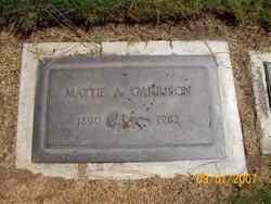 Mattie A. <I>Wilson</I> Garrison