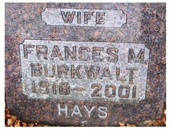 Frances M. <I>Few</I> Burkwalt