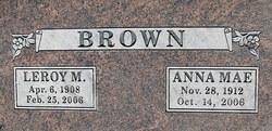 "Anna Mae ""Jane"" <I>Lomerson</I> Brown"
