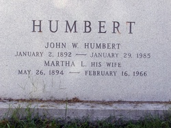 Martha L. <I>Flickinger</I> Humbert