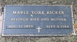 Mable <I>York</I> Ricker