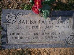 Barbara E Bain