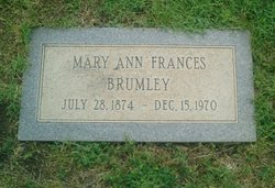 "Mary Ann Frances ""Fannie"" <I>Eiland</I> Brumley"