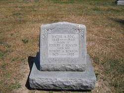 """Martha A. """"Mattie"""" <I>Springgate</I> Benson Post"""