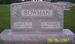 Alice Carrie <I>Hiatt</I> Bowman