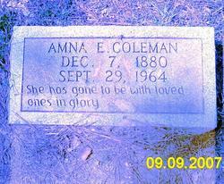 Amna Effie <I>Edwards</I> Coleman