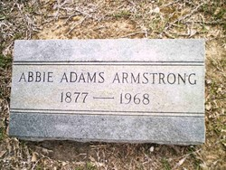 Abbie <I>Adams</I> Armstrong