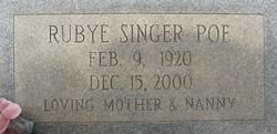 Rubye <I>Singer</I> Poe