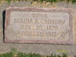 Bertha B <I>Hines</I> Canaday
