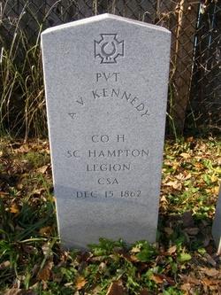 Pvt A. V. Kennedy
