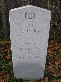Pvt M. D. Howell