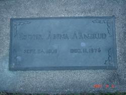 Esther Anna <I>Clarke</I> Aanerud