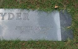 Judith N. Judi Snyder
