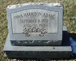 Anna Scott <I>Harrison</I> Adams