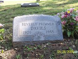 Beverly Jeane <I>Primmer</I> Davies