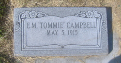 "Eleanor M ""Tommie"" Campbell"