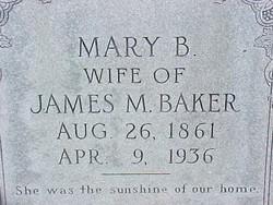 Mary A. Beauregard <I>Jones</I> Baker