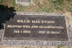 Willie Mae <I>Luker</I> Evans