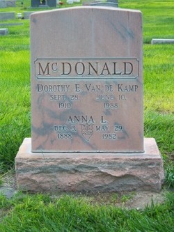 Dorothy Elizabeth <I>McDonald</I> VanDeKamp