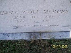Emma Christine Liesetta <I>Wolf</I> Mercer