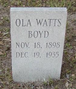 Ola <I>Watts</I> Boyd