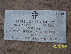 Sadie Lula <I>Jones</I> Carley