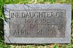 Infant Daughter Langston
