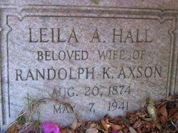 Agnes Alethea <I>Hall</I> Axson