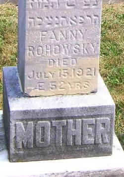 Fanny <I>Cohen</I> Rohowsky