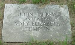 Mary Elizabeth <I>Tomblin</I> Lackey