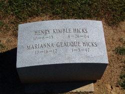 Marianna <I>Geauque</I> Hicks