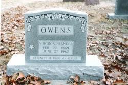 """Virginia Frances """"Fannie"""" <I>Dyson</I> Owens"""