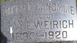 Ruth Evelyn <I>Hansmire</I> Weirich